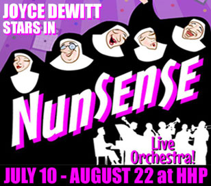 Nunsense, the winner of four Outer Critics Circle Awards including Best Off Broadway Musical, is a hysterical musical comedy filled with fun and frolic! Featuring amusing songs, tap and ballet dancing, an audience quiz, and comic surprises, Nunsense has become an international phenomenon! Ticket price of $79.50 includes show at the Hunterdon Hills Playhouse, entrée, salad and sides, dessert buffet, hot coffee or hot tea, tax and gratuity.