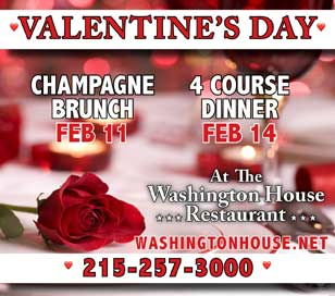 CELEBRATE VALENTINE'S DAY - CHAMPAGNE BRUNCH AT WASHINGTON HOUSE in Washington House Restaurant