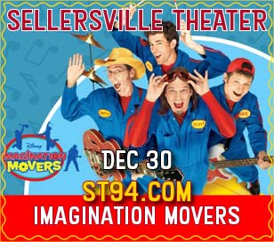 With their motto of reach high, think big, work hard, have fun, The Imagination Movers are a high energy, interactive live music act and will perform a holiday themed show. They partnered with Disney in 2007, filming 75 episodes of their Emmy Award winning series over three seasons, which airs in more than 55 countries and sold half a million CDs and DVDs. Critical acclaim includes nods from Entertainment Weekly and The New York Times, which reported the Movers are prized by many parents for non-condescending lyrics and music that evokes the Beastie Boys or Red Hot Chili Peppers. Parenting magazine praised the band's dash of rebellion and songs that are fresh and treacle free. National television appearances include The View, Live with Regis & Kelly, Good Morning America, and the Disney Junior Channel. A Post-Show Meet & Greet package is available and is an additional $30. It includes autograph and photo opportunities. Be advised, there are only 100 Meet & Greet spots available!