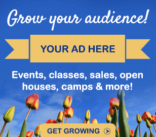 Find out more about advertising your events, classes, sales, open houses, camps and more in our popular online calendar!