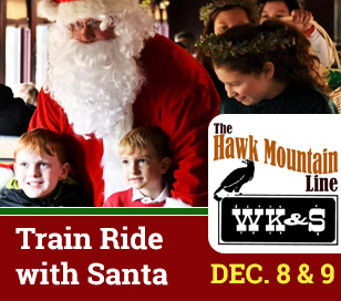 SANTA CLAUS SPECIAL in WK&S Railroad